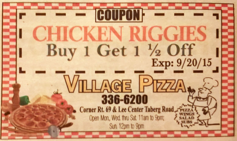 Chicken Riggies coupon
