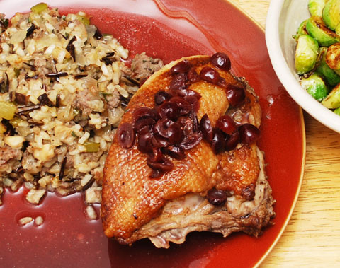 Duck with Three Rice Stuffing