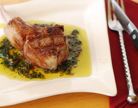 Lamb Chops with Salsa Verde | Mobile Home Gourmet